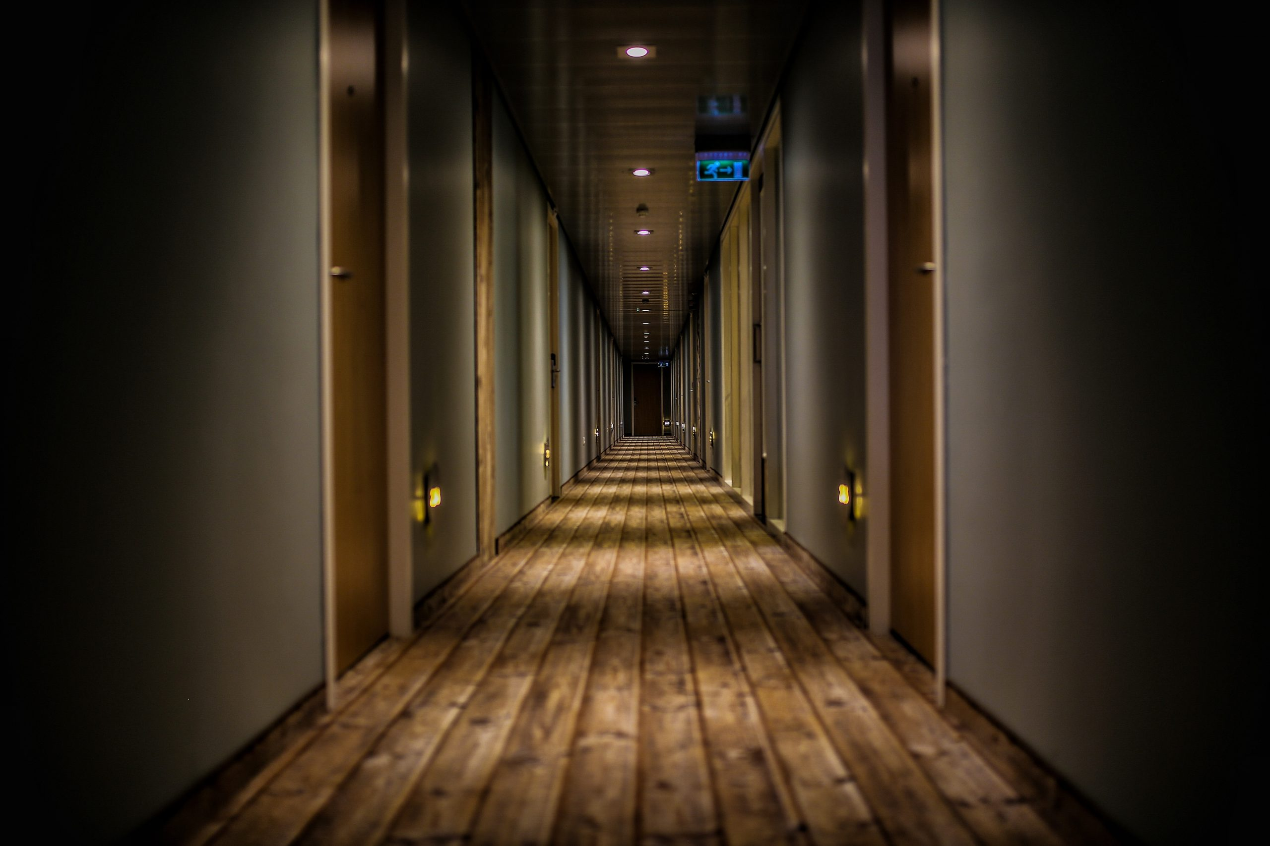 A Hotel Corridor - But what hotel technology can keep this safe?