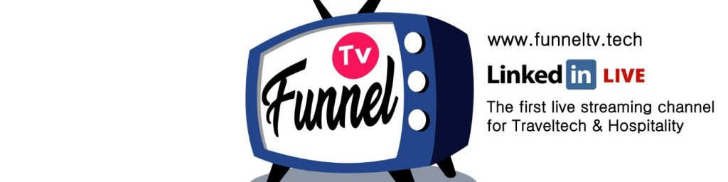FunnelTV Logo - LinkedIn Live on Guest Room technology